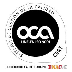 Certificado ISO:9001 de Yaco, S.L.