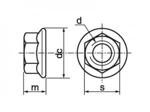 Tuerca DIN 6923 ISO-4161