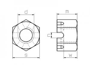 Tuerca DIN 935 ISO-7035-36-37