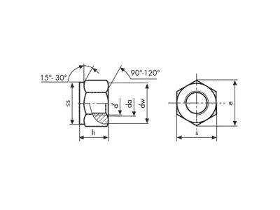 Tuerca DIN 980 ISO-7042/10513