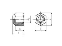 Tuerca DIN 982 ISO-7040/10512
