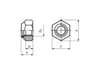 Tuerca DIN 985 ISO-10511