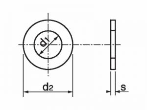 Arandela DIN-125 ISO-7089/7090