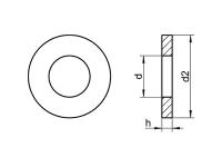 Arandela DIN 1440 ISO 8738