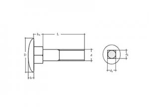 Tornillo DIN 603 ISO-8677
