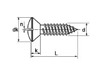Tornillo DIN 7973-ISO-1483