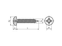 Tornillo DIN7981-ISO-7049
