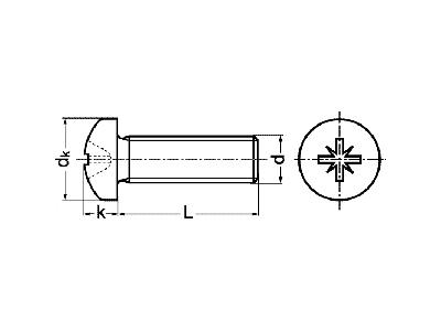 Tornillo DIN 7985 ISO-7045