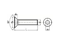Tornillo DIN 7991-ISO 10642