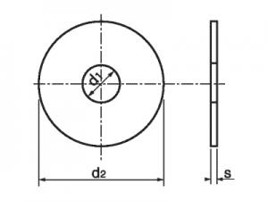 Arandela DIN-9021 ISO-7093