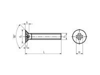 Tornillo DIN 965 ISO-7046